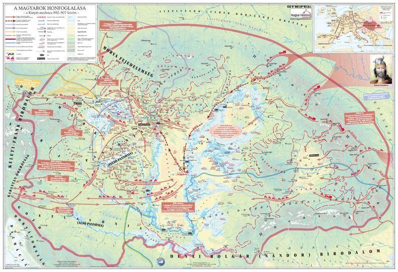 A magyar nép vándorlása és a honfoglalás könyöklő - Stiefel