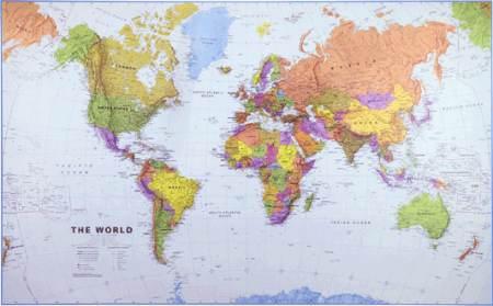 A Föld országai falitérkép - Craenen