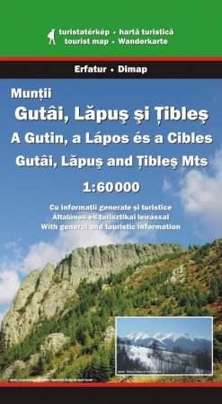 A Gutin, a Lápos és a Cibles turistatérképe - Dimap