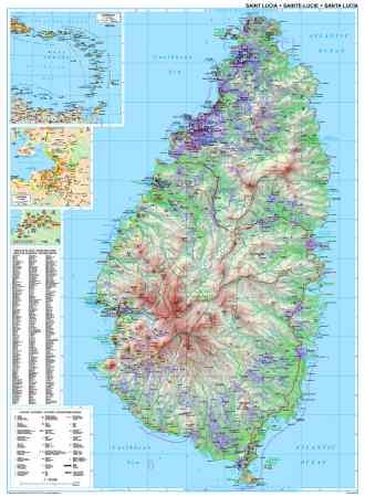 St Lucia falitérkép - GiziMap