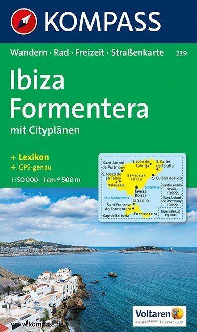 WK 239 - Ibiza - Formentera turistatérkép - KOMPASS