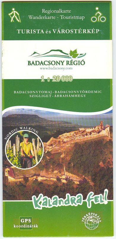 Badacsony régió térkép