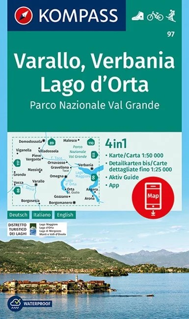 WK 97 - Varallo - Verbania - Lago d'Orta - Parco Nazionale Val Grande  turistatérkép - KOMPASS