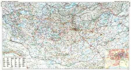 Mongólia autótérkép falitérkép - GiziMap