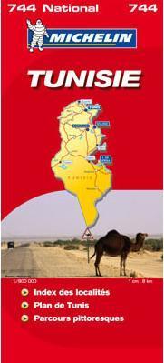 Tunézia térkép - Michelin 744