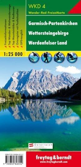 Garmisch-Partenkirchen-Wettersteingebirge-Werdenfelser Landturistatérkép - f&b WKD 4