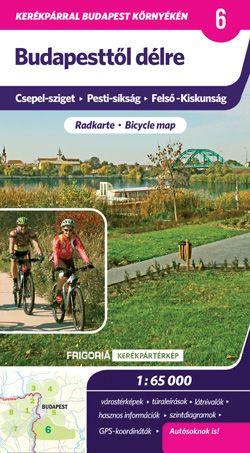 Budapesttől délre kerékpáros térkép - Frigória