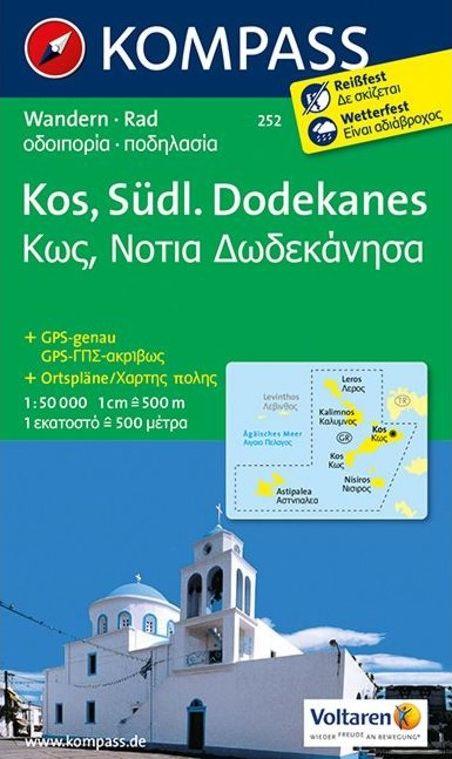 WK 252 - Kosz - Déli-Dodekaneszosz turistatérkép - KOMPASS