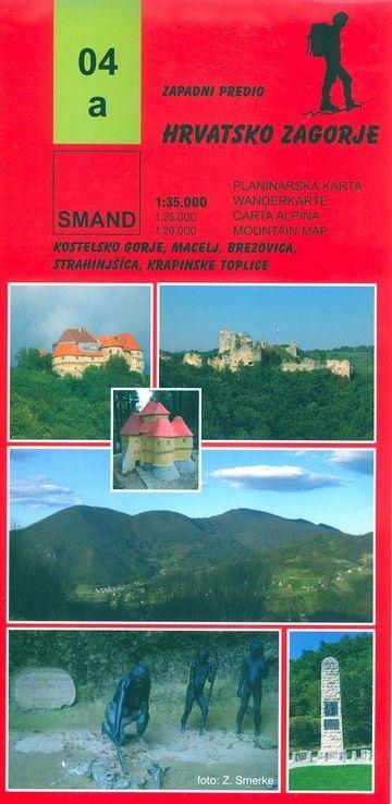 Image of 04a - Hrvatsko Zagorje turistatérkép - Smand