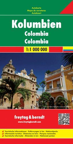 Kolumbia autótérkép - f&b AK 189