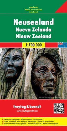 Új-Zéland autótérkép - f&b AK 188
