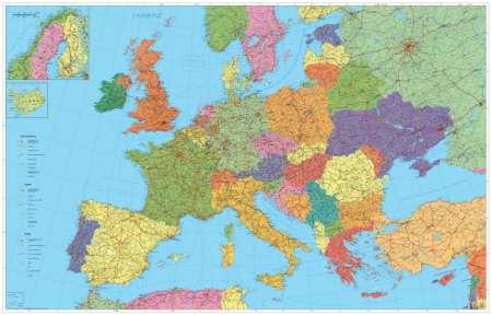 Európa autótérképe  falitérkép - Stiefel