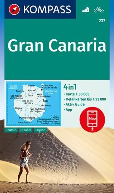 WK 237 - Gran Canaria turistatérkép - KOMPASS
