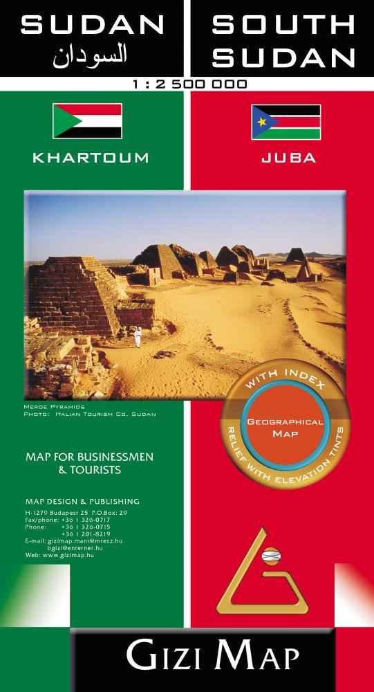 Szudán és Dél-Szudán térkép - Gizimap