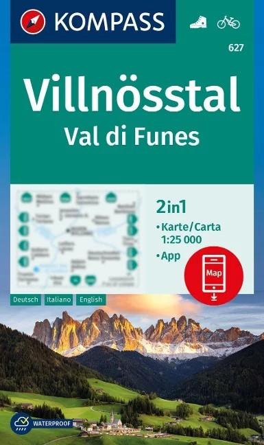 WK 627 - Vilnösstal / Val di Funes turistatérkép - KOMPASS