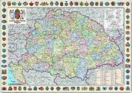 A Magyar Szent Korona országai (1914) falitérkép - Topográf