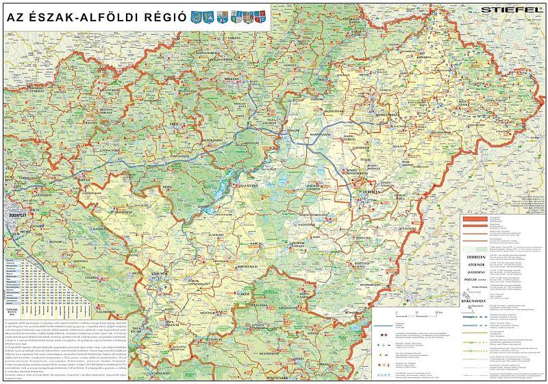 Észak-Alföld régió falitérkép - Stiefel