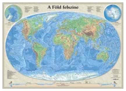 A Föld felszíne falitérkép - Topográf
