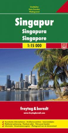 Szingapúr várostérkép - f&b PL 525