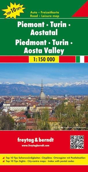 No 8. - Piemont - Torino - Aosta-völgy Top 10 Tipp autótérkép - f&b AK 0619