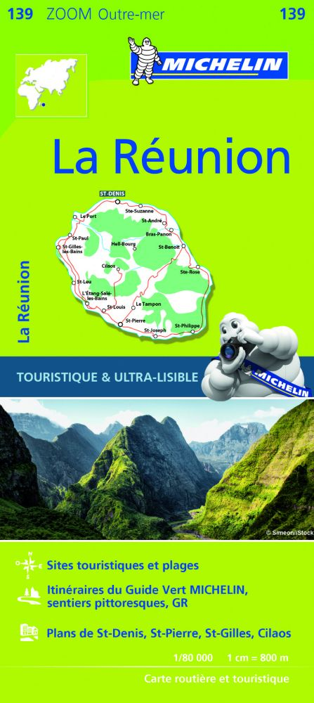 La Réunion térkép - Michelin 139