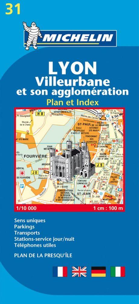 Lyon térkép - Michelin 31