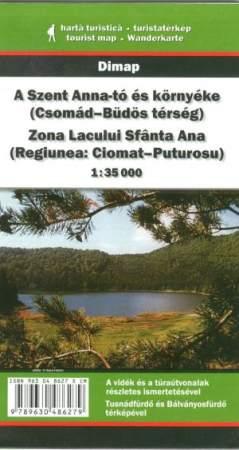 A Szent-Anna tó és környéke turistatérkép - Dimap