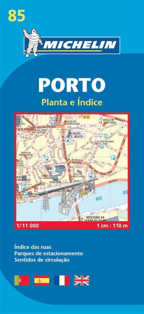 Porto térkép - Michelin 85