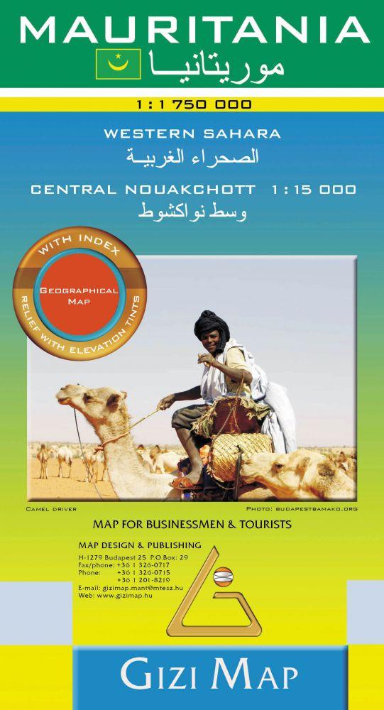 Mauritania térkép - Gizimap