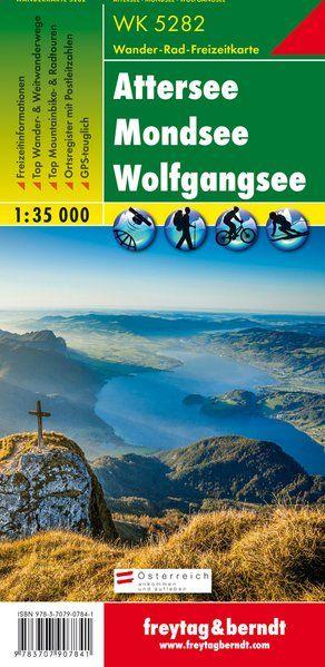 Attersee-Mondsee-Wolfgangsee turistatérkép - f&b WK 5282