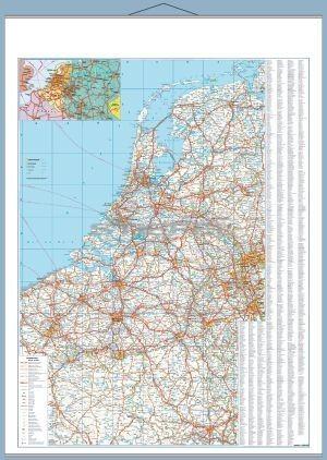 Benelux államok autótérképe falitérkép - Stiefel