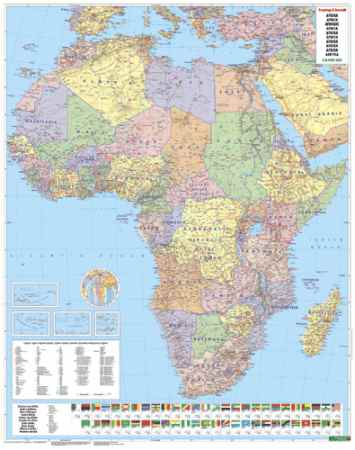 Afrika falitérkép - f&b