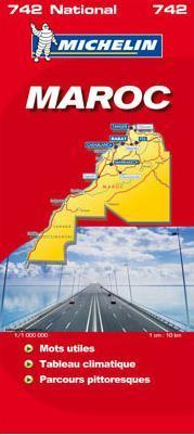 Marokkó térkép - Michelin 742