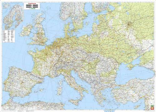 Európa domborzata falitérkép (nagyméretű) - f&b