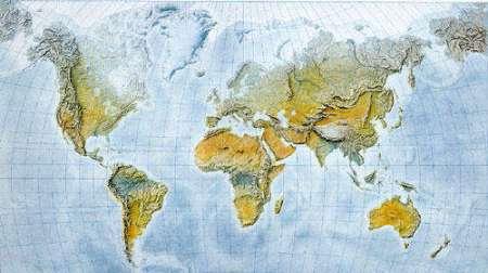 A Föld domborzata falitérkép (nagy méretű) - f&b