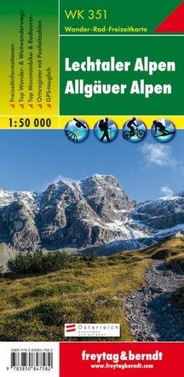 Lechtaler- Allgäuer Alpen turistatérkép - f&b WK 351