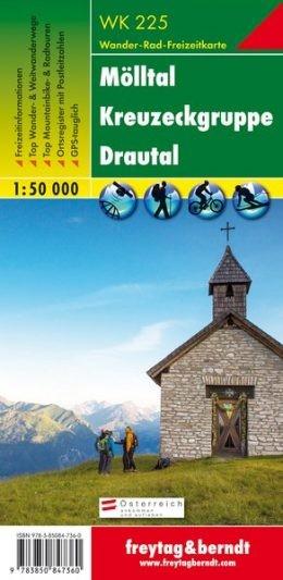 Mölltal-Kreuzeckgruppe-Drautal turistatérkép - f&b WK 225
