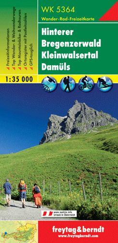 Hinterer Bregenzerwald-Kleines Walsertal-Lech-Damüls turistatérkép - f&b WK 5364