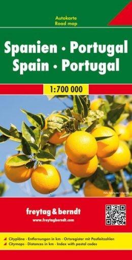 Spanyolország és Portugália autótérkép - f&b AK 0515