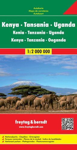 Kenya - Tanzánia - Uganda autótérkép - f&b AK 2104