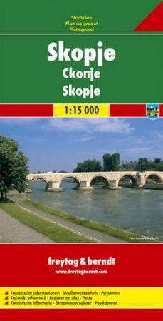 Szkopje várostérkép - f&b PL 117