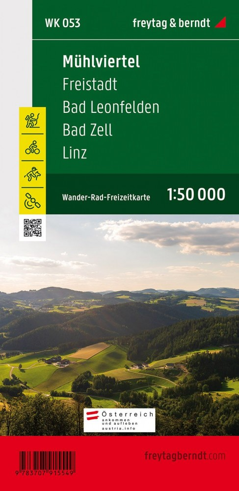 Mühlviertel – Freistadt – Bad Leonfelden – Bad Zell – Linz turistatérkép - f&b WK 053