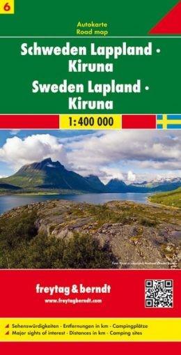 Lappföld - Kiruna (Svédország 6) térkép - f&b AK 06612