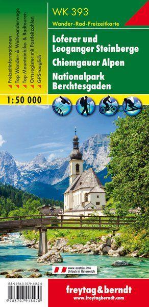 Loferer und Leoganger Steinberge, Chiemgauer Alpen, Berchtesgaden turistatérkép - f&b WK 393