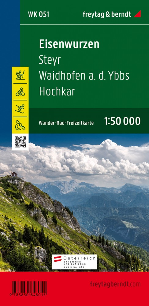 Eisenwurzen-Steyr-Waidhofen a.d. Ybbs-Hochkar turistatérkép - f&b WK 051
