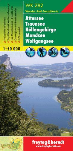 Attersee-Traunsee-Höllengebirge-Mondsee-Wolfgangsee turistatérkép - f&b WK 282
