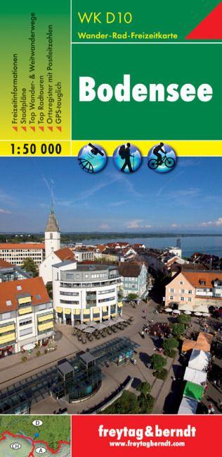 Bodensee turistatérkép - f&b WKD 10