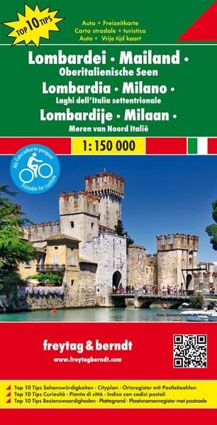 No 2. - Lombardia - Milanó - Észak-olasz tóvidék Top 10 Tipp autótérkép - f&b AK 0612