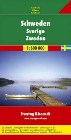 Svédország autótérkép - f&b AK 06613