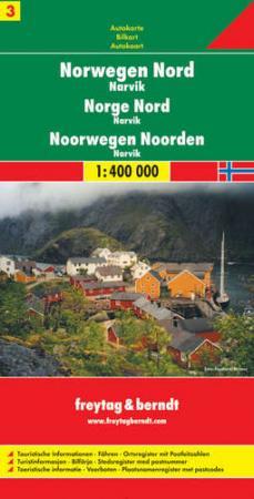 Észak-Norvégia: Narvik (Norvégia 3) autótérkép - f&b AK 0657
